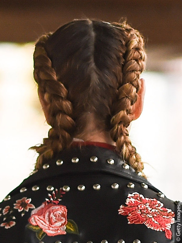 Woman with a Dutch braid