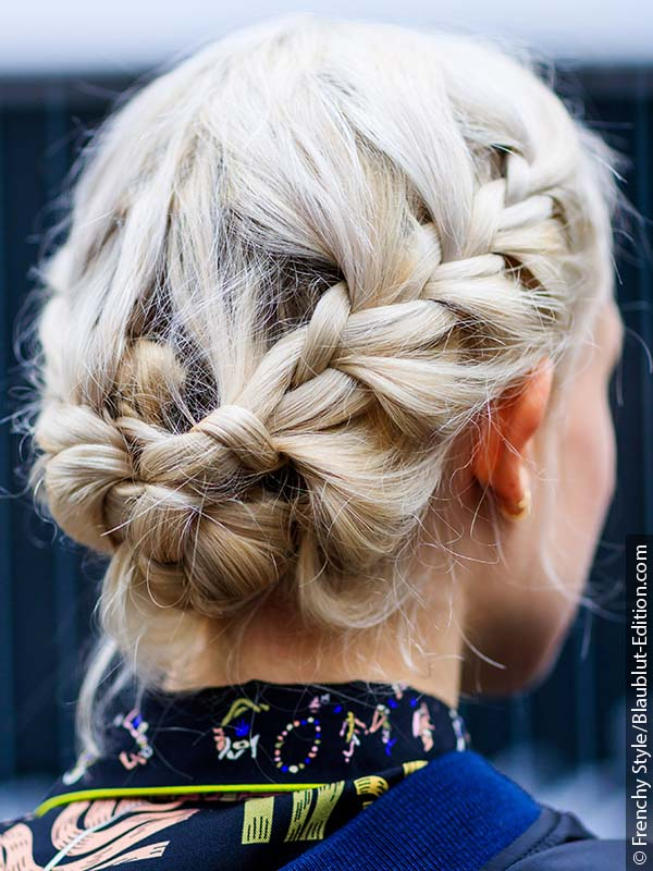 French braid as crown