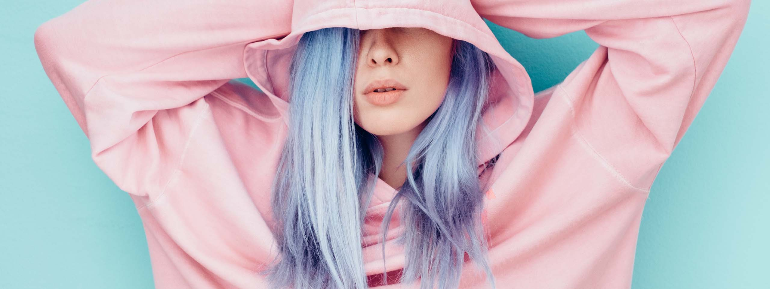 Pretty Pink And Cool Pale Blue Hot Hair Colors For Young