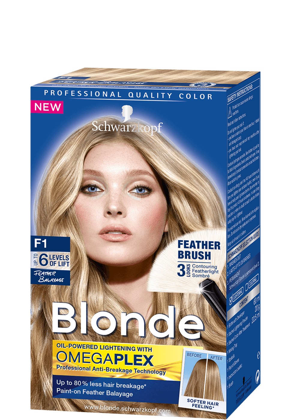 Blonde Strands F1 Feather Balayage