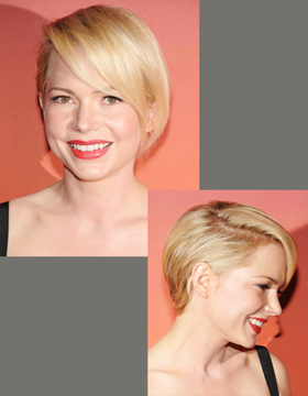 Short Hair Styles for Blondes: Michelle Williams