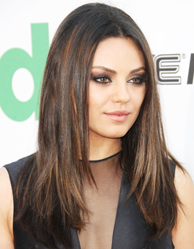 Hairstyles for Brown Hair: Mila Kunis
