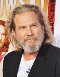 Jeff Bridges with greying hair