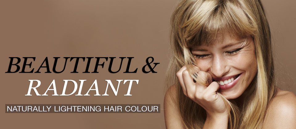 Naturally lightening hair colour