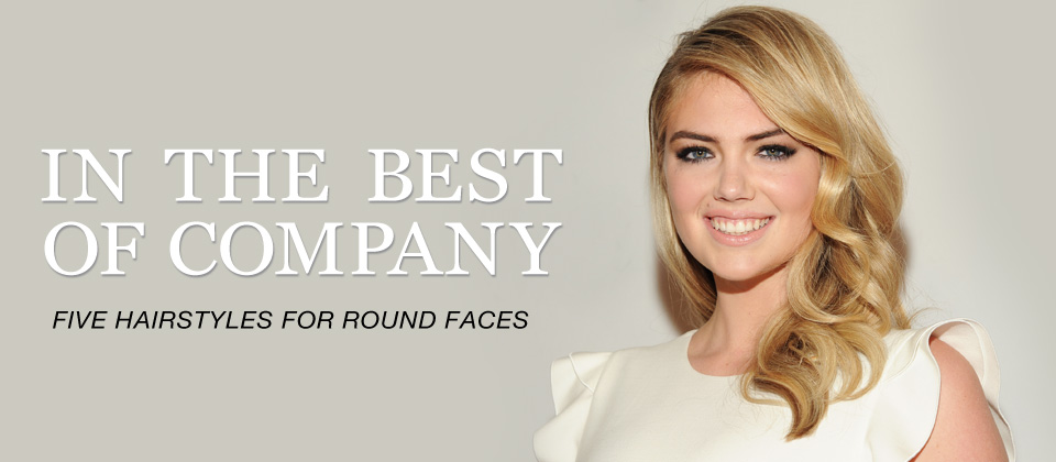Five hairstyles for round faces