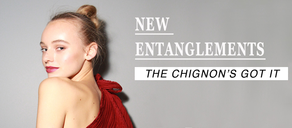 Chignon with long hair