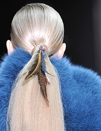 Fashionable Hair Feathers by Gucci