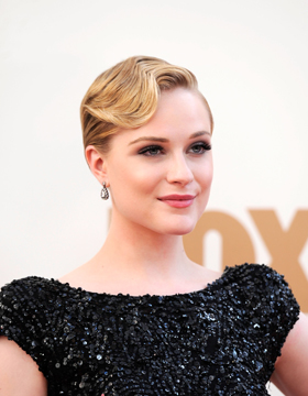 Evan Rachel Wood with Gel-Styled Water Wave