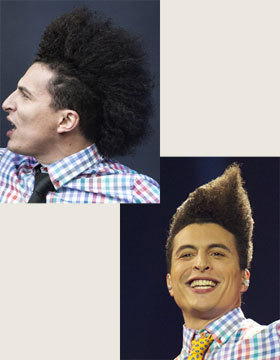 Hairstyles at the Eurovision Song Contest: Lorent Idir