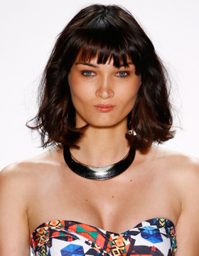 A-line cut trend hairstyle: plus fringe