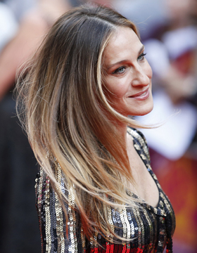 Sarah Jessica Parker with Straight Ombre Hair