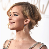 Jennifer Lawrence's updo