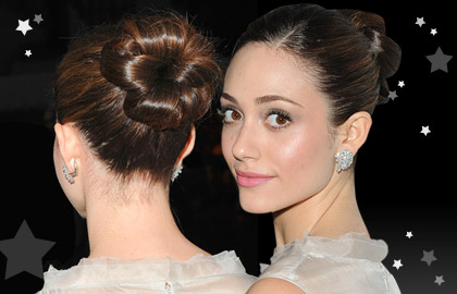 Festive Hairstyles for Christmas: Emmy Rossum