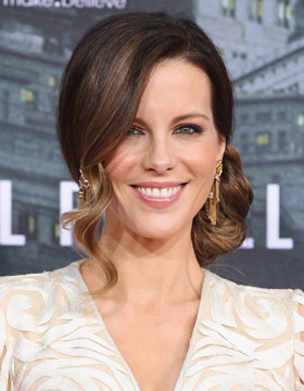 Festive Hairstyles for Christmas: Kate Beckinsale