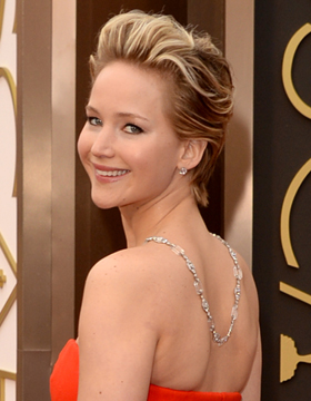 Hairstyles at the Oscar Awards: Jennifer Lawrence