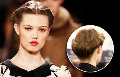 ... to the retro style. The crown hair roll is very popular right now