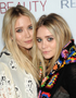 Hairstyle with Parting: Olsen Twins