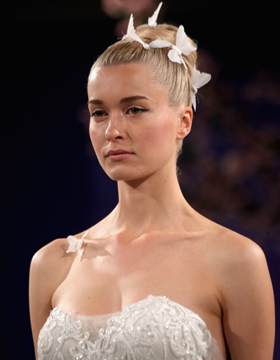 2016 Bridal Hairdo: Updo with Accessories