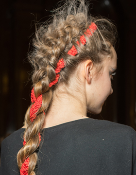 Braided Ponytail Variation with Intertwined Cord