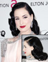 The Retro Hairstyle of Dita Von Teese