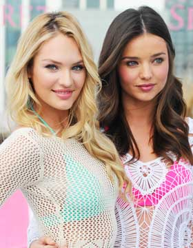 Summer Hairstyle Candice Swanepoel and Miranda Kerr