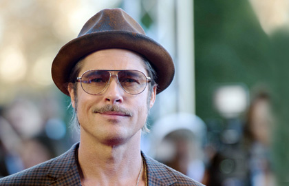 2016 Beard Guide: Brad Pitt with a moustache