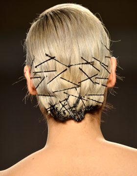 Bobby pins with updo