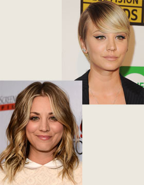 Hairstyle Change: Kaley Cuoco