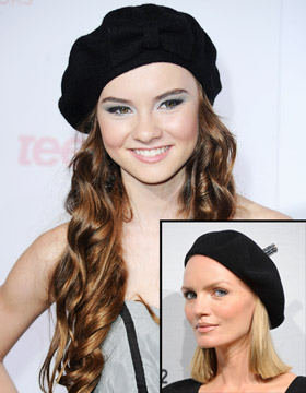 Hairstyle-Hat Combinations: Madeline Carroll, Urte Halabi
